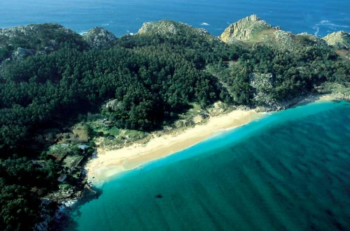 The seabed of the Cies Islands, Galicia