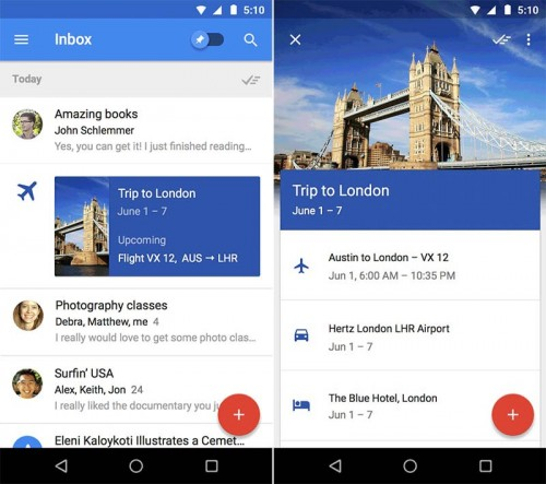 Inbox mobile app by Gmail